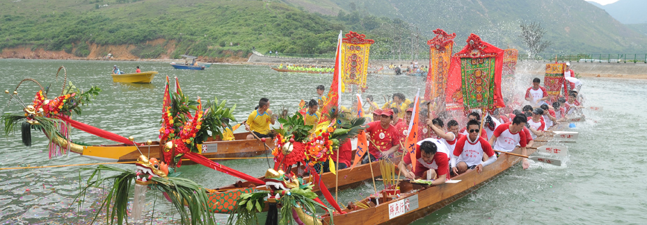Traditional Dragon Boat Parade in Tai O, Hong Kong
